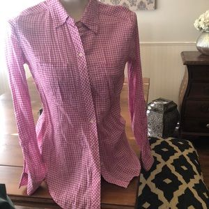 C&C California pink gingham button up xs